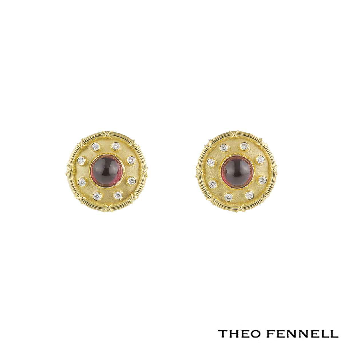 Theo Fennell Diamond Tourmaline Earrings 0.48ct G/VS